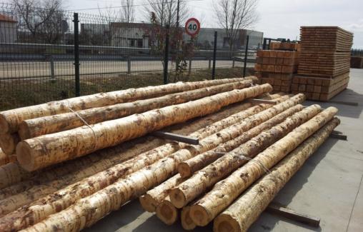 Maderas ordax almacen de maderas en toro zamora vigas - Vigas redondas de madera ...