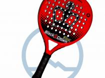 Pala de padel Black Crown Fox