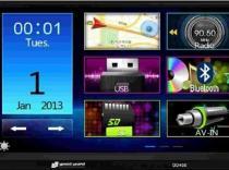 AutoRadio HQ-DD450 SpeedSound Doble Din con lector USB, SD, Bluetooth y receptor GPS