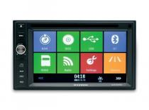 Radio DVD Multimedia MACROM Doble Din con GPS, Bluetooth, USB.