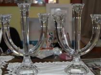 Cristal Candelabros
