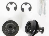 Cierres de seguridad Dunlop Straplok Negro Dual Design