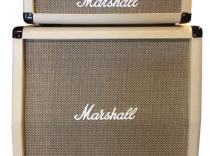 Amplificador MARSHALL MGH100 FX Cabezal y bafle en color crema Vintage.