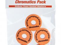 Espumas para platillos de batería Cympad Chromatics. Naranja