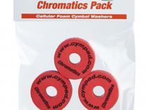 Espumas para platillos de batería Cympad Chromatics. Rojo