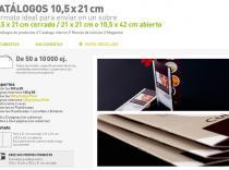 Catálogos 10.5 x 21 cm