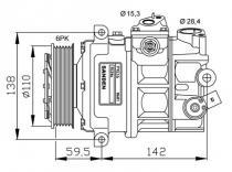 Compresor A1-A3-A4-A6-Q3-TT-Altea-Ibiza-Leon-Toledo-Fabia-Octavia-Beetle-Caddy-Eos-Golf-Jetta-Passat