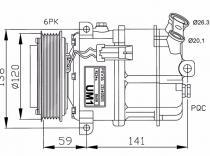 Compresor OPEL Vectra-Signum-1.9CDTI-3.0-3.2-FIAT Croma-SAAB 9-3