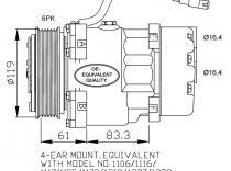 Compresor Citroen-Peugeot-C5-Xsara-Picasso-Berlingo-206-406-306-Xantia-Evasion-Jumpy-605-806-Expert