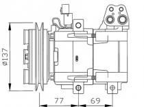 Compresor Aire Acondicionado Hyundai Galloper I-H100-H1