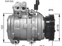 Compresor de Kia Carens 2.0CVVT- 2.0CRDI