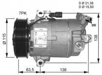 Compresor Aire Acondicionado Renault Megane-Scenic-Grand Scenic-Nissan Qashqai-XTrail