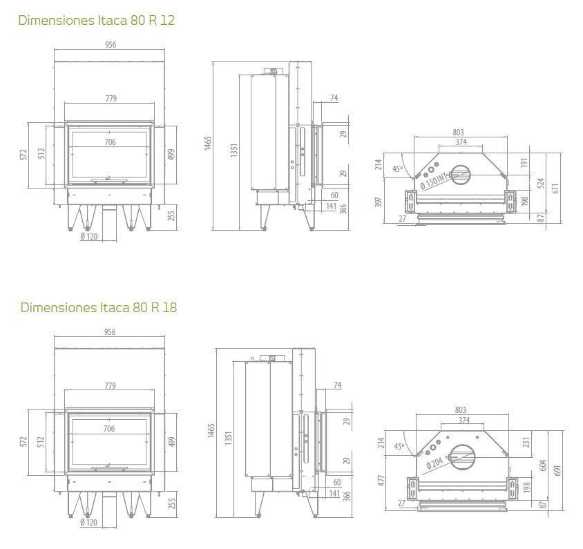 Medidas de chimeneas de obra ideas de disenos - Medidas de chimeneas de obra ...