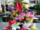 Centro de flores variadas.