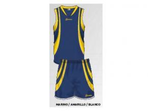 equipación baloncesto laucía marino/amarillo