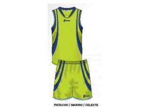 equipación baloncesto lucía pistacho/marino