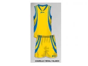 equipación de baloncesto lucía amarillo/royal