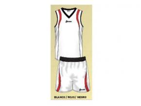 equipación de baloncesto mario blanco/rojo/marino