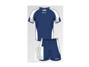 Equipación de fútbol Claudia marino/blanco