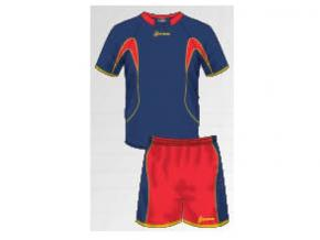 equipación fútbol españa marino/rojo/amarillo