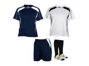 Roly equipación fútbol salas marino / blanco