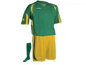Equipación de fútbol Jemsz silver verde / amarillo