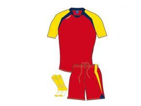 Equipación Mapas Torino rojo / amarillo