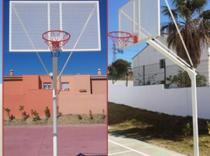 Xogo 2 Canastras Baloncesto ANTIVANDALICAS completas con redes de cadea