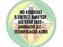 NO ASSOCIATS 5,5H./SETMANA BALL ESPORTIU QUOTA ANUAL