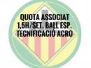 1,5H./SETMANA BALL ESPORTIU ASSOCIATS QUOTA ANUAL