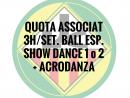 3H./SETMANA BALL ESPORTIU ASSOCIATS QUOTA ANUAL
