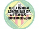 3,5H./SETMANA BALL ESPORTIU ASSOCIATS QUOTA ANUAL