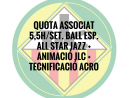 5,5H./SETMANA BALL ESPORTIU ASSOCIATS QUOTA ANUAL