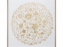 Cuadro impresión mariposas oro