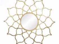 Espejo sol oro metal