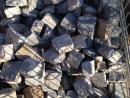 Adoquines antiguos de granito.