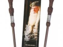 Harry Potter - Boligrafo varita + marcapáginas Dumbledore