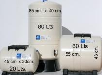 Calderin 80 litros vertical sin mantenimiento