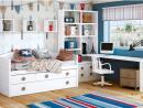 Dormitorio juvenil en color blanco puro y piedra