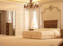Dormitorio de matrimonio plafón tallado