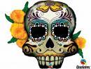 Globo foil forma cabeza Dead Skull