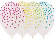 Globos transparentes confeti