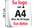 Blocs Din A4 1 cara color