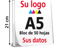 Blocs Din A5 1 cara color