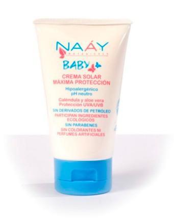 Leche Solar Máxima Protección Baby 125 ml, todobionatural.com, naay botanicals baby, cosmética natural, productos ecológicos,