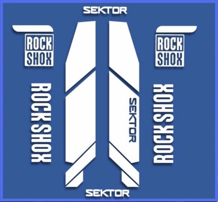 Aufkleber Gabel Rock Shox Pike AM46 Aufkleber Decals Aufkleber Gabel